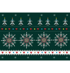 Folk Pattern Christmas Background vector image vector image