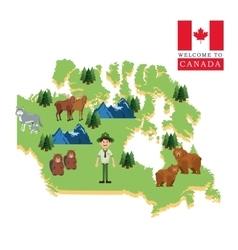 Forest animals Canada icon cartoon design vector image vector image