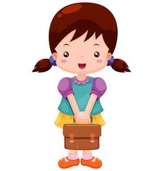 Girl back to school vector image vector image