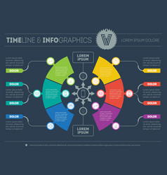 infographic of technology or education process vector image vector image