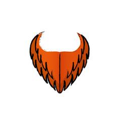 Irish beard elf icon vector