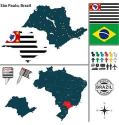 Map of sao paulo vector