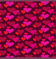 Mod overlapping hearts background pattern vector