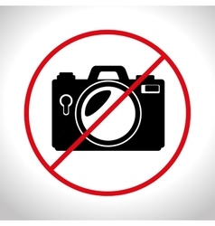 no photo camera prohibited design graphic vector image