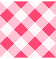 Pink white diamond chessboard background vector