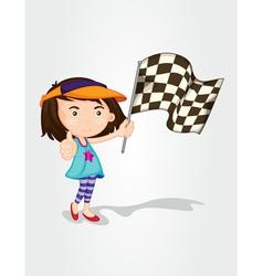 Racing girl vector image