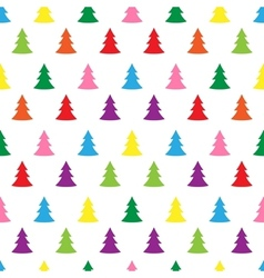 Seamless simple cute christmas tree vector image vector image