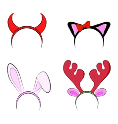 Set of christmas toy props vector