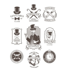 Set of vintage gentleman emblems labels vector image