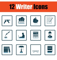 Set of writer icons vector image