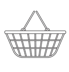 Shopping basket icon modern line sketch doodle vector