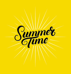 Summer time hand written lettering vector
