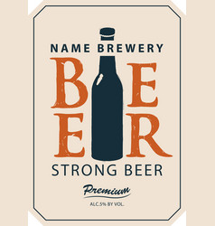 Template beer label vector