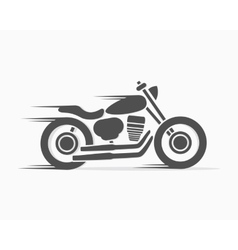 Vintage motorcycle logo template vector
