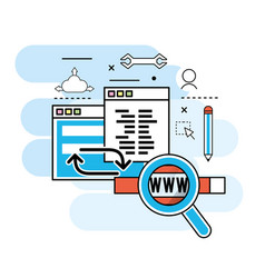 website process information to programming vector image