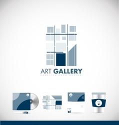 Art gallery abstract logo icon design vector