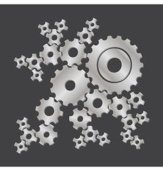 Set of cogs gears vector