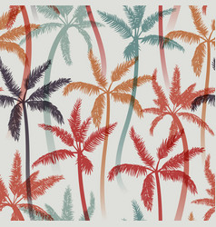 Seamless summer pattern with palms vector