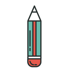 Pencil school isolated icon vector