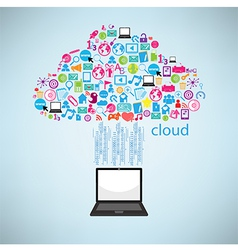Computer clicking cloud icon concept eps10 vector