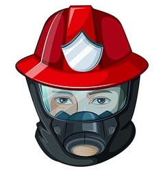 A head of a fireman vector