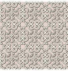 Seamless beige pattern vector image