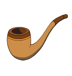 Cartoon tobacco pipe vector
