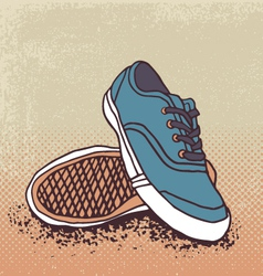 Pair of sneakers vector image