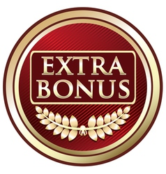 Extra bonus red label vector