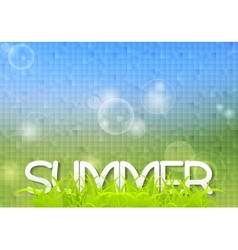 Tech summer design with grass vector