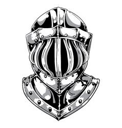 armor helmet vector image