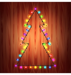 Christmas lights as fir tree holiday concept vector