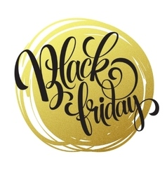 Black friday golden text design vector