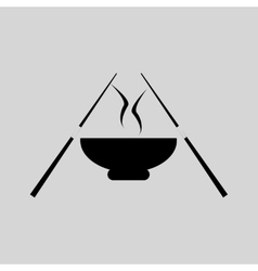 Flat in black and white miso soup vector