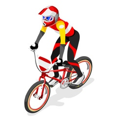 Cycling bmx 2016 sports 3d isometric vector