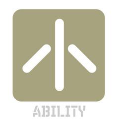 Ability conceptual graphic icon vector