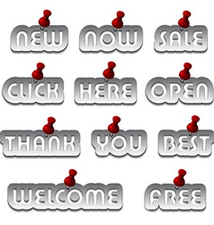 Aluminum promotional stickers attached vector