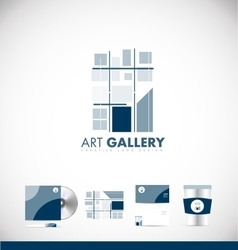 Art gallery abstract logo icon design vector