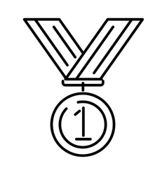 Award medal gold success winner competition symbol vector image vector image
