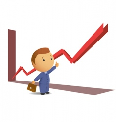 business success graph vector image