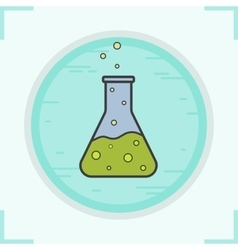 Chemical reaction icon vector