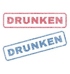 Drunken textile stamps vector