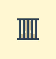 flat icon prison element of vector image