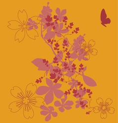 Flowers fashion print vector