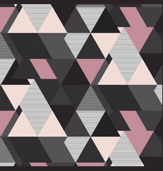 Geometrical mosaic pattern grey pink and vector