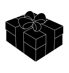 gift wrapping for easter easter single icon in vector image vector image
