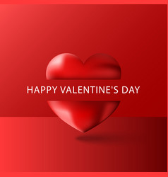 Happy valentines day text greeting card blank vector