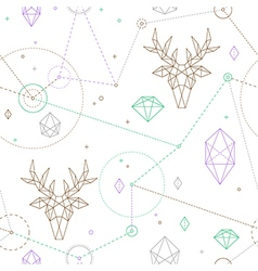 hipster deer pattern vector image