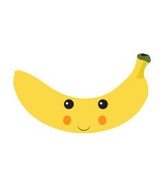 isolated happy banana vector image