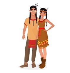 Native american indian family american indians vector